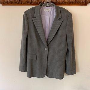 Tahari ASL Striped Grey Blazer 16
